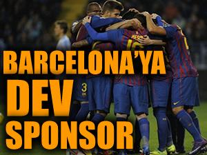 Dünya devi Barcelona'ya sponsor