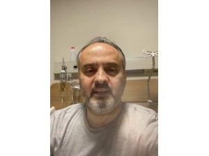 Korona virüse yakalanan Büyükşehir Belediye Başkanı Alinur Aktaş, hastane odasından Bursalılara seslendi