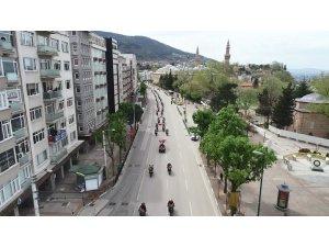 Bursa'da motosikletli polis ekipleri 23 Nisan için şehir turu attı