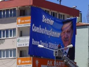 """Yozgat'ta """"Benim Cumhurbaşkanım Erdoğan"""" Afişleri"""