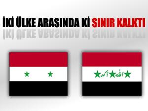 Irak-Suriye arasında ki sınır kalktı