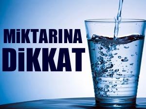 İftarda su içimine dikkat