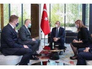 Bakan Çavuşoğlu, İslam Toplumu (Meşihat) Başkanı Müftü Grabus'u kabul etti