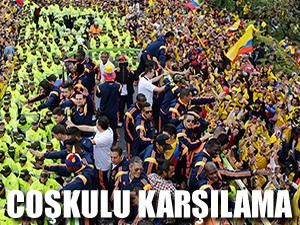 Kolombiya'ya coşkulu karşılama!