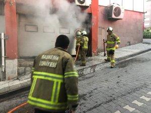 Balıkesir'de kargo deposunda yangın