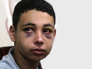 İsrail polisinin Tarık'ı dövdüğü o anlar