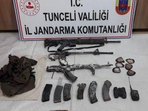 Tunceli'de 3 teröristin öldürüldüğü operasyonda silah ve mühimmat ele geçirildi