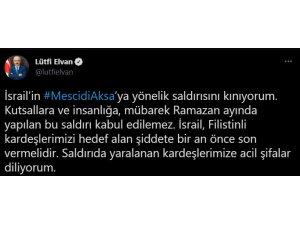 Bakan Elvan, Mescid'i Aksa'da Filistinlilere yapılan saldırıyı kınadı