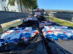 Samsun'da 11 ton faturasız taklit temizlik malzemesi ele geçirildi