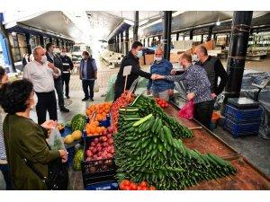 Altınordu'da pazar alanlarında güvenli alışveriş