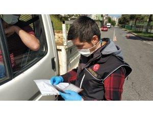 Narkotik polisinden sokağa çıkma kısıtlaması uygulaması