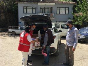Türk Kızılay Mudanya'da 150 aileye yardım ulaştırdı