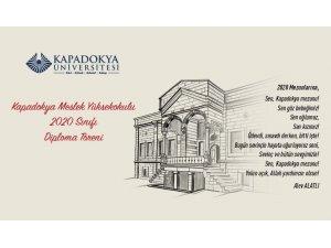 Kapadokya Üniversitesi mezuniyet töreni çevrim içi olarak yapıldı