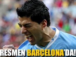 Luis Suarez resmen Barcelona'da