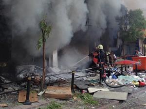 Mithatpaşa tramvay durağı yakınında patlama