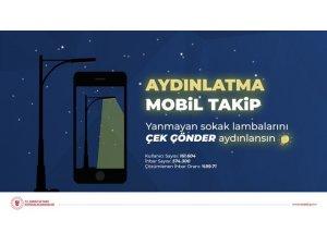 Aydınlatma Mobil Takip Uygulaması ile yanmayan sokak lambası kalmıyor