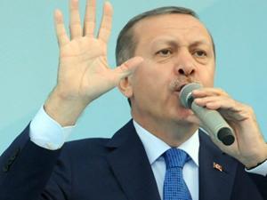 Erdoğan'ın mitinginde  bir ilk !