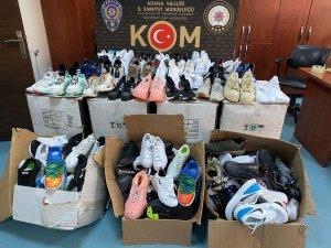 Adana'da 237 çift taklit ayakkabı ele geçirildi