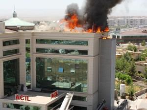 Diyarbakır'da hastanede yangını çıktı