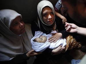 Gazze'de bombalar 6 saat sustu