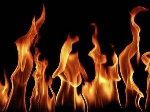 Benzin istasyonunda yangın çıktı