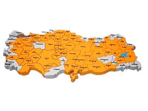 Erdoğan'ın haritasında Tunceli yok