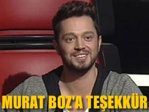 Murat Boz'a teşekkür