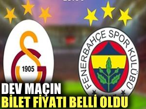 Fenerbahçe-Galatasaray maçının bilet fiyatı belli oldu