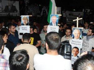 Nevşehir'de İsrail'e destek verenlerin posteri yakıldı