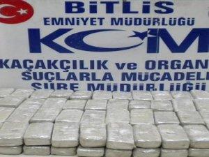 Bitlis'te 48 kilo eroin ele geçirildi