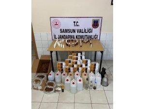 Samsun'da kaçak tütün ve sahte alkol ele geçirildi: 1 gözaltı