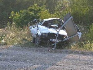 Virajı alamayan otomobil takla attı: 1 ölü, 5 yaralı
