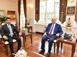 ADÜ Rektörü Aldemir, Yargıtay Birinci Başkanı Mehmet Akarca ile görüştü
