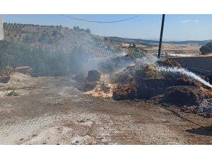Kahramanmaraş'ta ekin balyası ve anız yangını