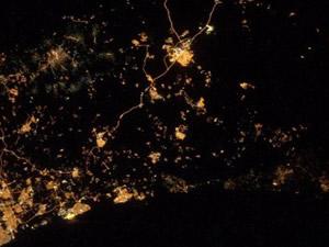 Gazze'deki saldırıyı uzaydan görüntüledi