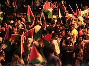 Filistin Gazze için ayaklandı