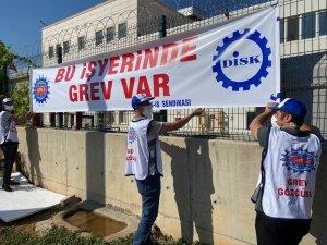 Fabrika işçilerinden grev