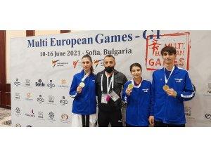 Türk Telekom Spor Kulübü tekvandocularına Avrupa'dan 3 altın madalya