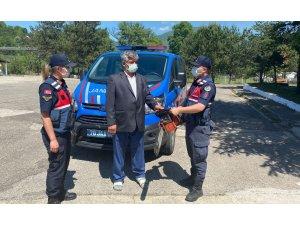 Karabük'te ağaç kesme motoru çalan şüpheli yakalandı