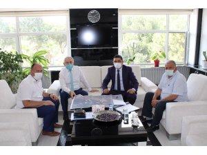 MASKİ'nin Saruhanlı'daki yatırımlarını Kaymakam Yalınalp'a anlattı