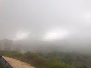 Bilecik'te yağmurun ardından yoğun sis etkili oldu
