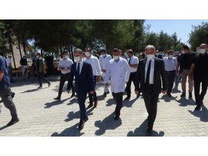Vali Karaloğlu, uyuşturucu ve alkol bağımlılarının tedavi edileceği AMATEM ile ÇEMATEM'de incelemelerde bulundu