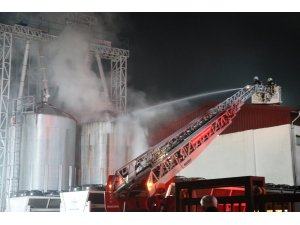 Enerji üretim fabrikasındaki yangın büyümeden söndürüldü