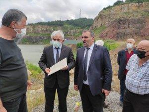 MHP heyeti cüruf tesisi yapılması planlanan bölgeyi gezdi