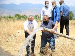 Gölhisar tarımsal sulama kuyusu faaliyete geçti