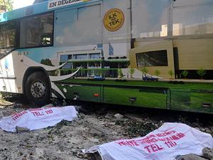 Ankara'da Belediye otobüsü kazası: 2 ölü 5 yaralı