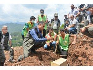 Mersin'de endüstriyel ağaçlandırma çalışmaları arazi eğitimi yapıldı