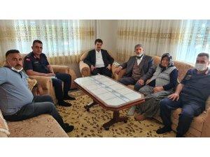 Kaymakam Cebeci şehit ailesini ziyaret etti