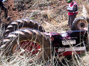Amasya'da traktör devrildi, 13 yaşındaki sürücü öldü