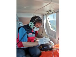 17 yaşındaki kız çocuğu ambulans helikopterle hastaneye yetiştirildi